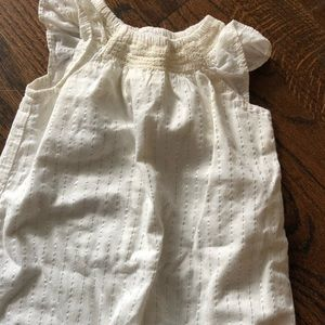 Baby Gap 0-3 month cream and silver 1 piece